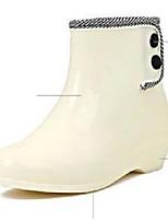 Chaussures Femme-Extérieure / Décontracté-Blanc-Talon Bas-Rangers / Bottes de Pluie / Bottes de Neige / Bottes à la Mode-Plates / Bottes-