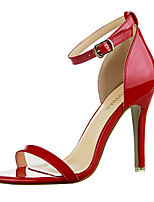 Women's Shoes / Peep Toe Sandals Dress / Casual Black / Purple / Red / Silver / Gray / Almond