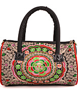 Women Canvas Duffel Shoulder Bag-Multi-color