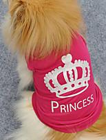 Cães Colete / Roupa / vestuário Rosa Verão / Primavera/Outono Clássico / Carta e Número Da Moda-Lovoyager