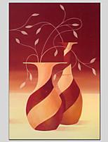 matériel de toile peintures à l'huile de style de fleurs avec cadre étiré prêt à accrocher la taille 60 * 90cm.