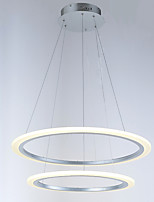 Modern 2 Ring LED Pendant Light chandeliers Lighting Fixtures with 42W CE FCC ROHS