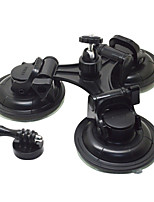 Removable Tri-Angle Suction Cup Mount 9CM Diameter with 360degree Rotation Head Tripod Mount & Screw ForGoPro