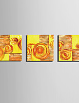 Mini Size E-HOME Oil painting Modern Abstract Yellow Flowers Pure Hand Draw Frameless Decorative Painting