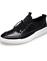 Men's Shoes Casual Leather Loafers Black / Red / Gray