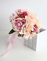 Artificial Wedding Flowers Pink Hydrangea Bouquets