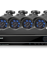 Annke® New 8CH 960H HDMI DVR Outdoor 900TVL Blue LEDS IR Cut CCTV Video Security Camera System