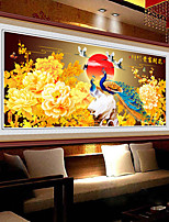 DIY 5D Diamonds Embroidery Rich Flowers Peacock Peony Round Diamond Painting Cross Stitch Kits Diamond Mosaic Home Decor