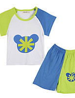 Girl's Blue Clothing Set Cotton Summer / Spring