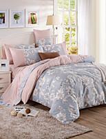 100% katoen patroon beddengoed serie 4-delige dekbedovertrek set, queen / king size