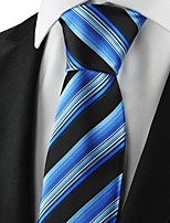 New Striped Blue Black Mens Tie Suits Necktie Party Wedding Holiday Gift KT1073