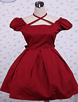 Steampunk®  Cotton Red Bow Classic Lolita Dress  OP