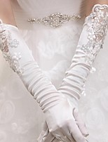Elbow Length Fingertips Glove Elastic Satin Bridal Gloves / Party/ Evening Gloves