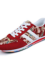 Men's Shoes Casual Fabric Fashion Sneakers / Athletic Shoes Black / Blue / Red