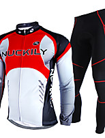 Mountain Cycling Team Riding Thick Warm Windproof Fleece Long Sleeve Suit M