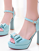 Women's Shoes Chunky Heels/Platform/Open Toe Sandals Party & Evening/Dress Blue/Pink/White
