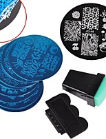10 Nail Plates +1 Stamper + 1 Scraper Nail Art Image Stamp Stamping Plates Manicure Template Nail Art Tools