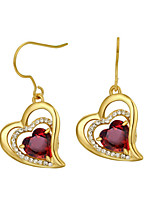 Earrings Set Crystal Zircon Alloy Heart Orange Red Jewelry Wedding Party Daily Casual 1 pair
