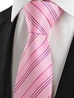 New Striped Pink JACQUARD Men's Tie Necktie Wedding Party Holiday Gift #1033