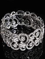 Legering Dames Chain / Ronde Armbanden Armbanden Bergkristal