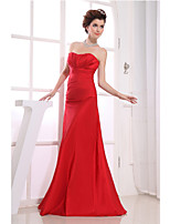 Formal Evening Dress-Ruby Trumpet/Mermaid Strapless Floor-length Taffeta