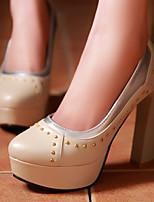 Women's Shoes Chunky Heel/Platform/Round Toe Heels Party & Evening/Dress Blue/Pink/Purple/Beige