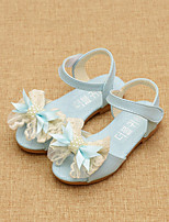 Girls' Shoes Dress / Casual Comfort Leatherette Sandals Blue / Pink / Beige