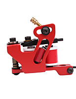1pc New Design Handmade Tattoo Machine Red Color 10 Wrap Coil Tattoo Supplies For Liner Shader
