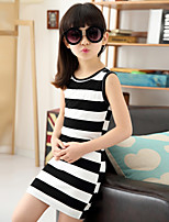Girl's Cotton Summer Zebra Stripes Dress