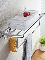 60cm with 4 Hooks Contemporary Stainless Steel Chrome Wall Mounted Towel Warmer