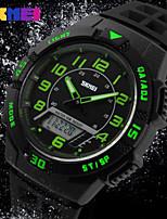 Sports Watch Masculino / Mulheres / Unissex LCD / Calendário / Cronógrafo / Impermeável / Dois Fusos Horários / Relógio Esportivo Digital