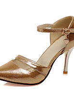 Zapatos de mujer-Tacón Stiletto-Tacones-Tacones-Boda / Oficina y Trabajo / Vestido / Fiesta y Noche-Purpurina / Materiales Personalizados-