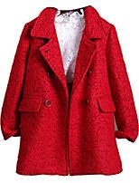 Veste & Manteau Fille de Hiver / Automne Polyester Rouge / Gris
