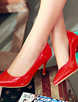 Women's Shoes Patent Leather/Stiletto Heel/Pointed Toe Heels Office & Career/Dress Black/Red/Almond