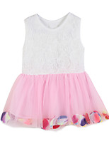 Robe Fille de Eté / Printemps Coton Rose