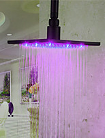 Monochrome LED Shower Nozzle Top Spray Shower Nozzle (Pink)