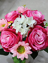 High Quality Dew Roses Paired With Combination Flowers  Silk Flower Artificial Flowers for home Decoration (1 PCS)