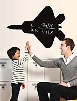 3D Wall Stickers Wall Decals Style Cartoon Aircraft Blackboard Waterproof Removable PVC Wall Stickers