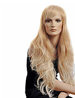 Blonde Color Popular Top Quality Synthetic Long Wave Wigs