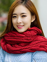 New Wool Knitted Scarves Ms. Winter Hedging Collars Thick Students Scarf