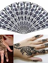 12 * Black* Herbal Henna Cones Temporary Tattoo kit Body Art Mehandi Ink Hina