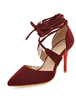 Women's Shoes Microfibre Stiletto Heel Heels / D'Orsay & Two-Piece / Pointed Toe Sandals Party & Evening /