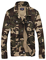 Men's Fashion Camouflage Print Slim Fit Casual Long Sleeve Jacket