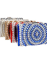 Women Metal Minaudiere Evening Bag-Blue / Gold / Red / Silver / Black