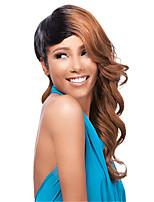 grande longueur de beaux cheveux armure européenne cheveux couleur mélangée perruque synthétique