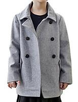 Girl's Brown / Gray Jacket & Coat Cotton Winter