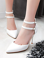 Women's Shoes Leatherette Stiletto Heel Heels Heels Wedding / Athletic / Dress / Casual Blue / Pink / White
