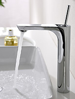 Single Handle Mixer Tap Tall Bathroom Sink Faucet Chrome Finish