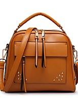 Women PU Shopper Shoulder Bag - Pink / Blue / Brown