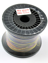 PE Braided Fishing Line 4 Strands 500m/550Yards 80LB 0.50mm Five Color Mixed